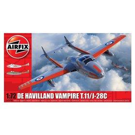 Flygplan deHavilland Vampire T.11 / J-28C med svenska dekaler