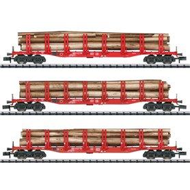 Trix 15930 Vagnsset med 3 stolpvagnar Snps typ DB AG