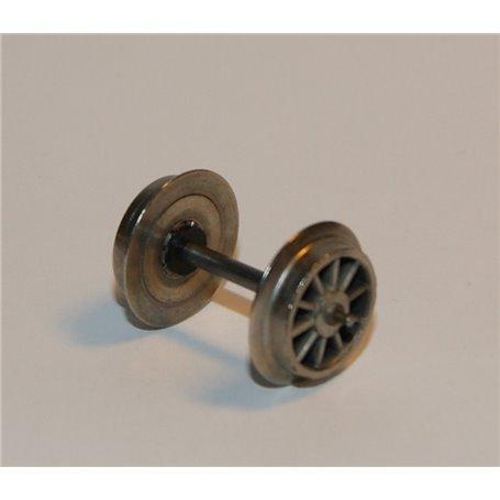 Märklin 700550 Hjulaxel HAMO, 1 st, isolerad på ena sidan, 12 mm hjuldiameter, axelavstånd 24.6 mm, med tapplager