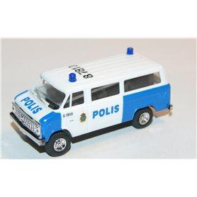 """AHM AH-423 Chevrolet Van SDA 102 """"Polis Malmö"""" med blålysen"""