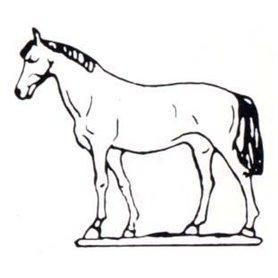 Prince August 101 Häst, med huvudet upp, Häst, 40 mm hög, gjutform för tenngjutning.