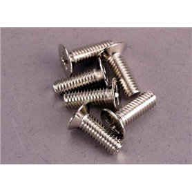 Traxxas 2548 Skruv, insex, försänkt, M4x12mm, 6 st