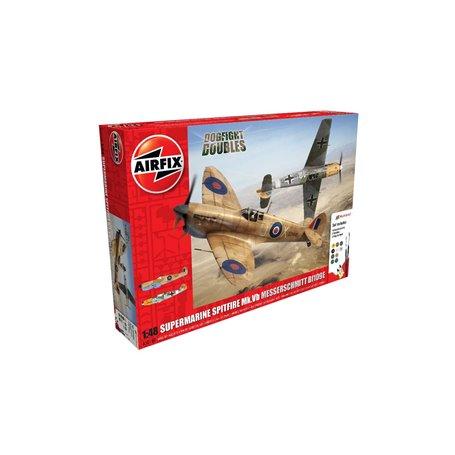 Airfix 50160 Supermarine Spitfire MkVb Messerschmitt Bf109E Dogfight Doubles Gift Set 1:48