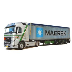 "AMW 75257 Bil & Containertrailer ""12"" XL/Aero ""Hebra/Maersk"""