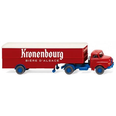 Wiking 51322 Box semi-trailer (Saviem) 'Kronenbourg'
