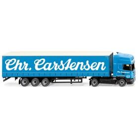 Wiking 53709 Curtain-sided semi-trailer (Scania R420 Topline) 'Sped. Chr. Carstensen'
