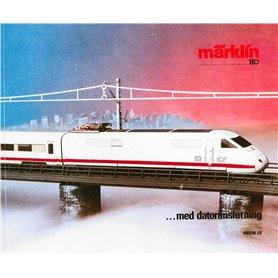 Media KAT444 Märklin Katalog 1985/86 på Svenska, 219 sidor i färg, begagnat skick