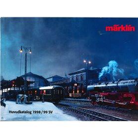 Media KAT445 Märklin Katalog 1998/99 på Svenska, 528 sidor i färg, begagnat skick