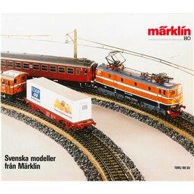 Svenska modeller från Märklin 1985/86, 8 sidor i färg, begagnat skick