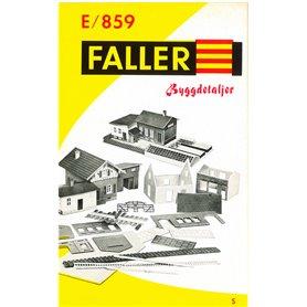 Faller katalog E859 byggdetaljer