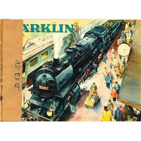 Media KAT457 Märklin Katalog 1953 på Svenska, 65 sidor, begagnat skick, tejpad rygg