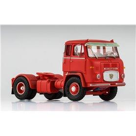 Scania LB 7635, röd med solskydd