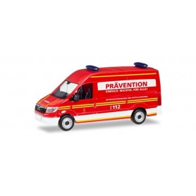 Herpa 094054 MAN TGE box type with high Roof 'Munich Volunteer fire Department'