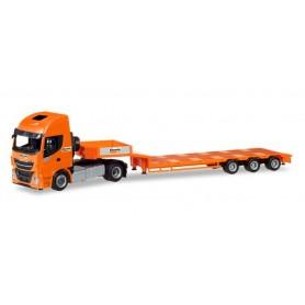 Herpa 309318 Iveco Stralis XP low boy semitrailer ?Boels Rental? (NL)