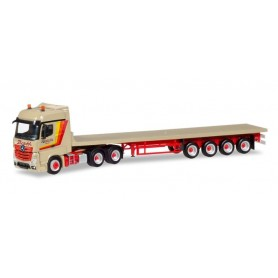 "Herpa 309332 Mercedes-Benz Actros Bigspace flatbed semitrailer ""Barth & Sohn"""
