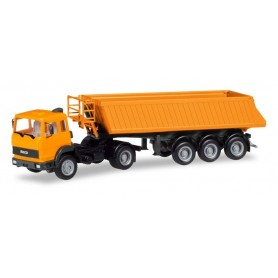 Herpa 309356 Iveco dump semitrailer, communal orange