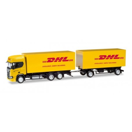 Herpa 309400 Scania CR High roof interchangeable box trailer 'DHL'