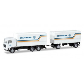 Herpa 309417 Volvo F 12 canvas cover Trailer 'Deutrans'