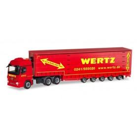 Herpa 309431 Mercedes-Benz Actros L 6x4 Meusburger semitrailer 'Wertz Aachen'
