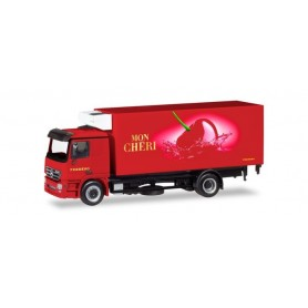 "Herpa 309448 Mercedes-Benz Actros L refrigerated box truck with liftgate ""Ferrero Mon Chéri"""