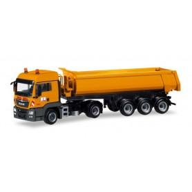 "Herpa 309462 MAN TGS LX dump semitrailer ""Max Bögl"""