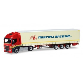 Herpa 309516 Iveco Stralis Highway XP curtain canvas semitrailer ?Multipli Arcese? (I)