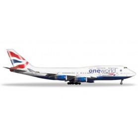 Herpa 531924 Flygplan British Airways Boeing 747-400 'OneWorld'
