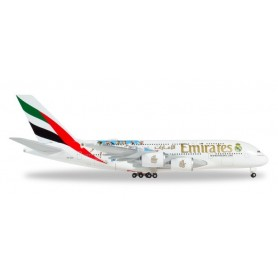 Herpa 531931 Flygplan Emirates Airbus A380 'Real Madrid (2018)'