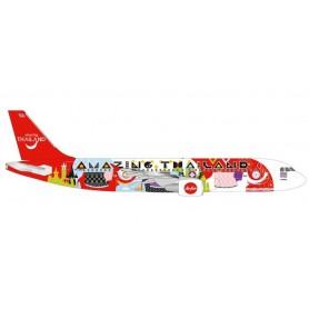 Herpa 532686 Flygplan Thai Air Asia Airbus A320 'Amazing Thailand'