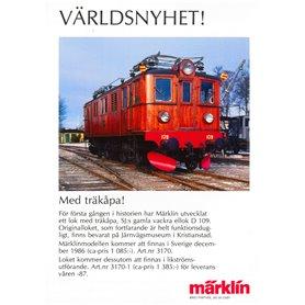 """Media KAT465 Märklin Nyhetsblad """"3170 - Världsnyhet"""""""