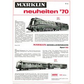 Media KAT466 Märklin Nyhetskatalog 1970, på Tyska, 11 sidor