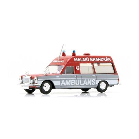"Brekina 13815 Mercedes Benz 8 KTW ""Ambulans Malmö Brandkår 906"" ""Von Starmada"""