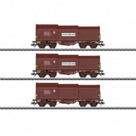 Märklin 46874 Vagnsset med 3 teleskopgodsvagnar typ SNCB|NMBS