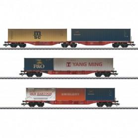 Märklin 47810 Vagnsset med 3 containervagnar typ DB AG