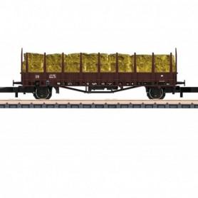 Märklin 82130 Stolpvagn Rmms 33 typ DB med last av hö