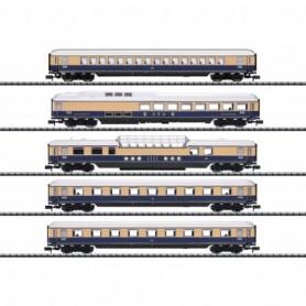 Trix 15870 Vagnsset med 5 personvagnar typ DB 'Rheingold'