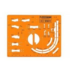 Fleischmann 9901 Spårplansschablon för Fleischmann H0 Modellräls