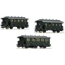 """Vagnsset med 3 personvagnar typ DRG """"Set 1"""""""