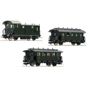 """Vagnsset med 3 personvagnar typ DRG """"Set 2"""""""