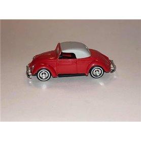 VW Hebmüller Cabriolet, röd med vitt tak