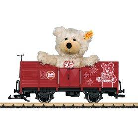 """LGB 42229 Gondola with a """"Steiff Teddy Bear"""" as a Load"""