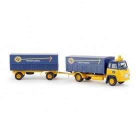 Brekina 85050 Bil & Släp Scania LB 76 'ASG'