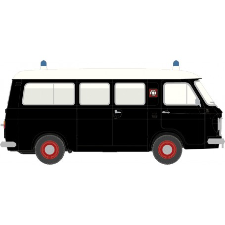 Brekina 34409 Ambulans Fiat 238 'Falck' svart|vit