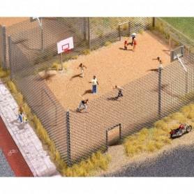 Busch 9775 Lekplats, sandplan, basketkorgar m.m.