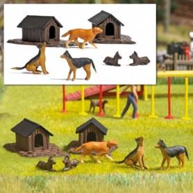 Busch 1197 Hundkojor och hundar
