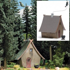 Busch 1679 Häxans hus med flygande häxa