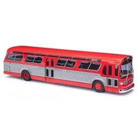 Busch 44501 Buss GMC TDH-5301 Amerikansk USA 'Fishbowl', röd
