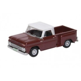 Oxford Models 124158 Chevrolet Stepside Pick Up 1965 Maroon Metallic