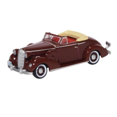 Oxford Models 124097 Buick Special Convertible Coupe 1936 Cardinal Maroon