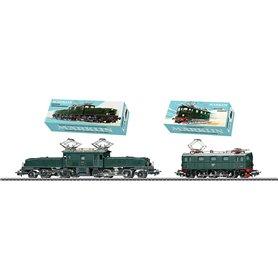 Märklin 31100 Electric Locomotive Double Set SJ möter SBB